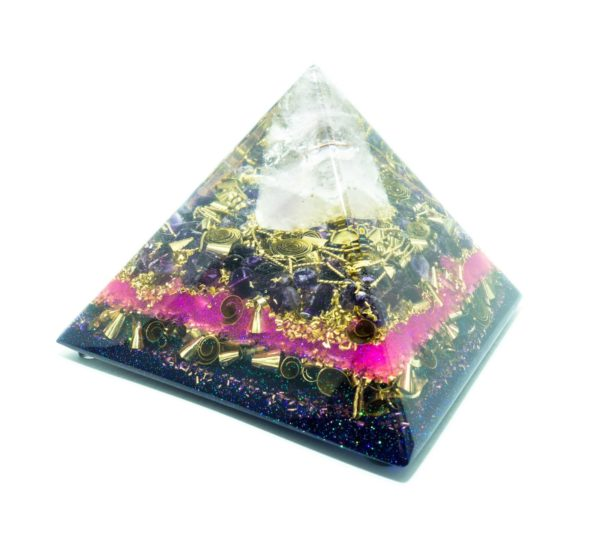 Orgonite Pyramid - Orgone Energy - Crystal quartz, Ametrine