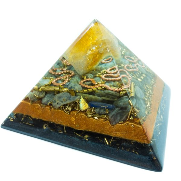 Orgonite Pyramid - Crystal Citrine, Labrador