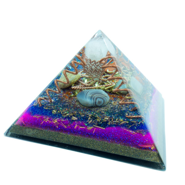 Orgonite - Quartz, Jasper, Bulls-eye, Agate, Moonstone